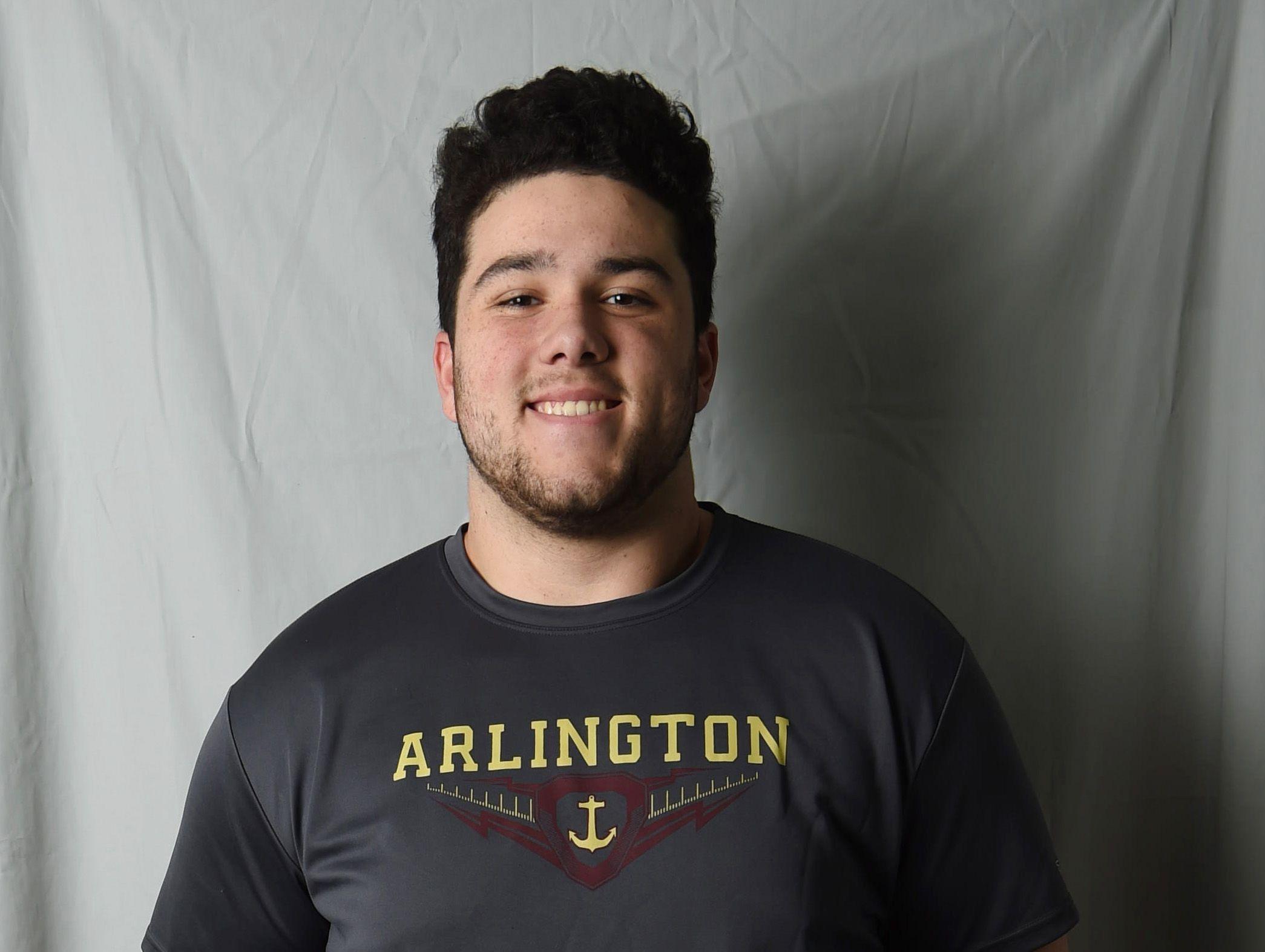 Jordan Valerius-Twiman from Arlington High School is the Defensive Lineman of the Year.