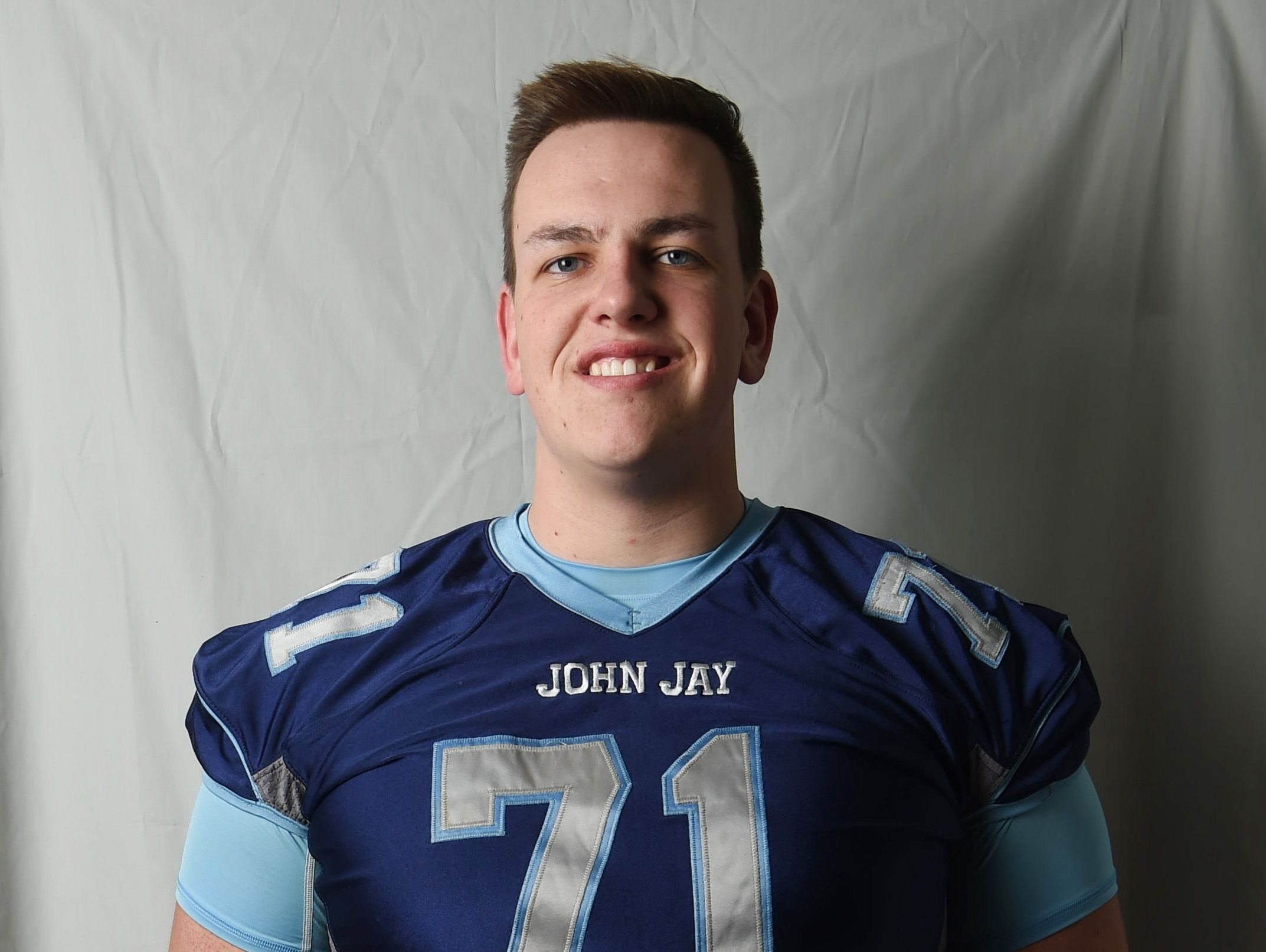 John Ryan from John Jay High School is the Offensive Lineman of the Year.