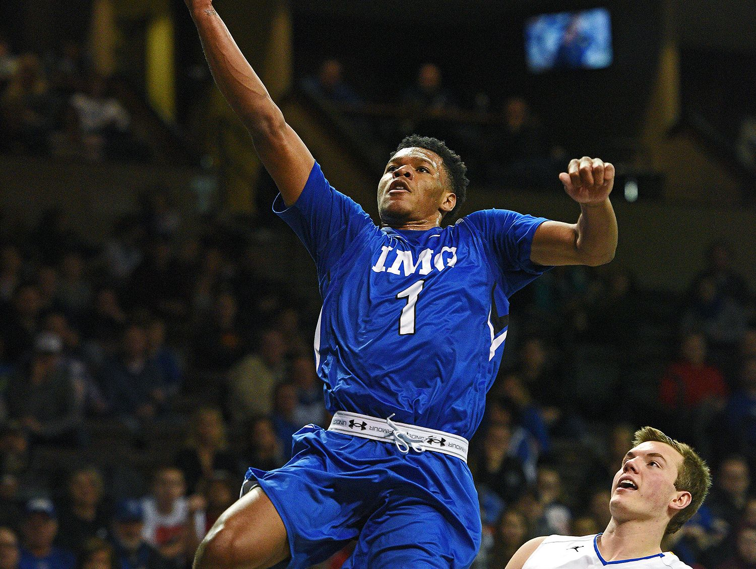 IMG Academy's Trevon Duval (1) goes up for a shot. (Photo: USA Today Sports)
