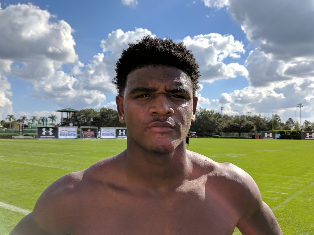 Grayson coach D'Angelo Gibbs said he'll choose from four schools on Sunday at the Under Armour All-America Game in Orlando. (Photo: Jim Halley, USA TODAY Sports).