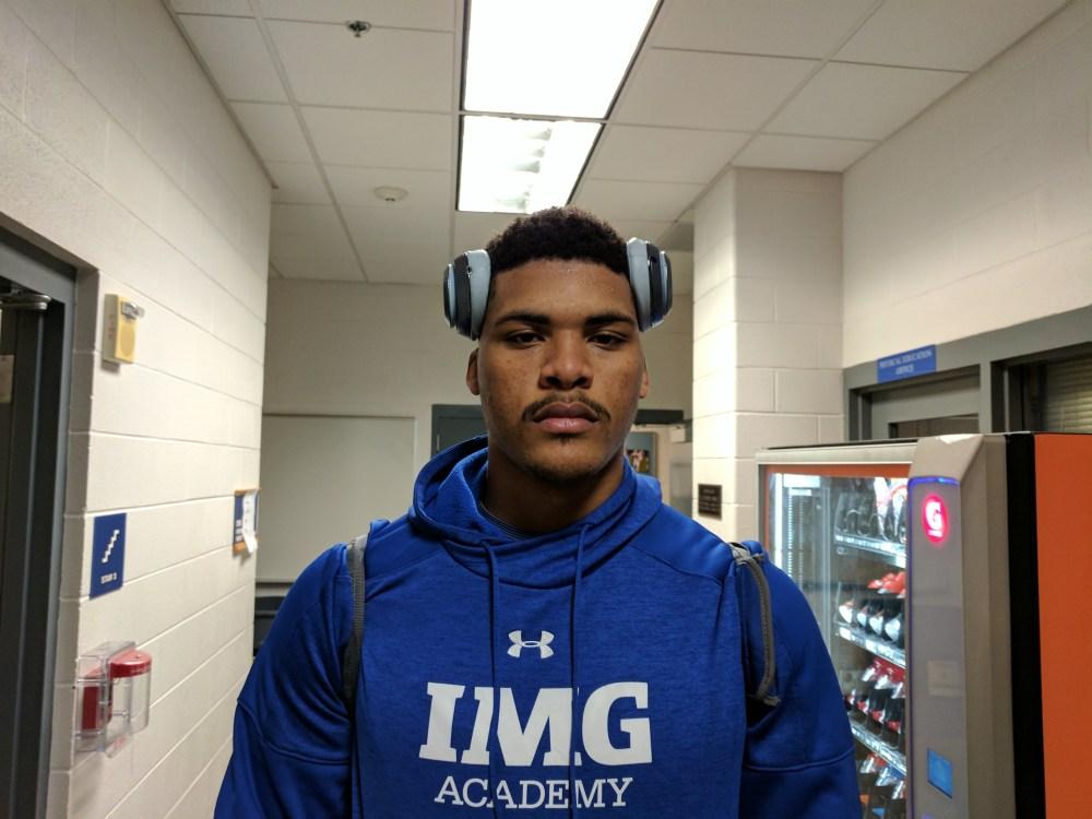 IMG Academy (Bradenton, Fla.) power forward Isaiah Stokes. (Photo: Jim Halley, USA TODAY Sports).