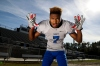 Dec 15, 2016; Jacksonville, FL, USA; Defensive Player of the Year: Shaun Wade (center) poses for a photo at Trinity Christian Academy. Photo by Logan Bowles / USA TODAY Sports Images, Gannett ORG XMIT: US 135854 ALL USA PLAYER O 12/1 [Via MerlinFTP Drop]