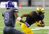 Dec 23, 2016 -- Frisco, TX, U.S.A -- GEICO State Champions Bowl Series. -- St. Thomas Aquinas Raiders wide receiver Michael Harley (3) makes a move on Bingham Miners defensive back Jaylon Vickers (8) during the first half. Photo by Ray Carlin-USA TODAY Sports Images, Gannett ORG XMIT: US 135851 GEICO preps 12/23/201 [Via MerlinFTP Drop]
