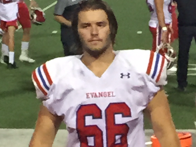 Evangel's Ethan Harvey is a four-year starter on the Eagles' offensive line.