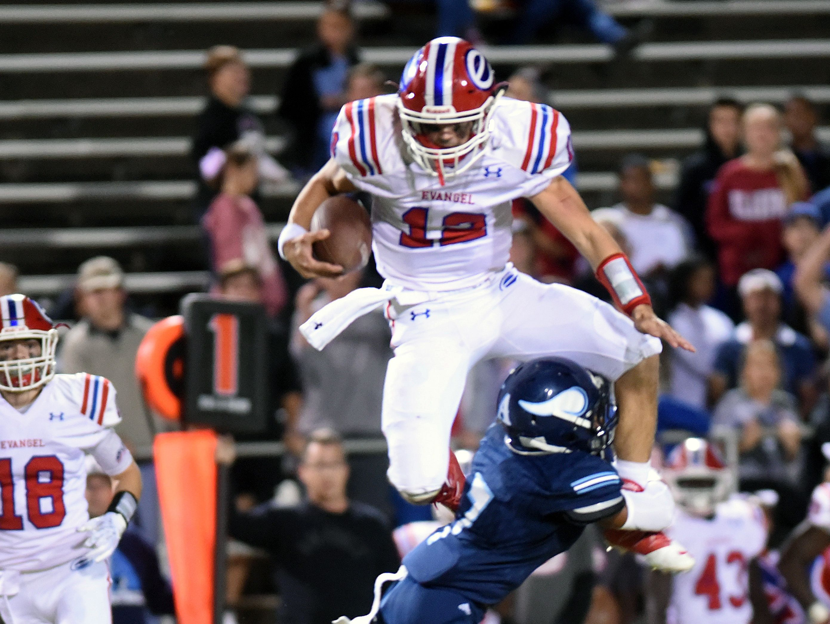 Evangel quartrback Connor Curry has been selected for teh Blue-Grey All-American Bowl. .