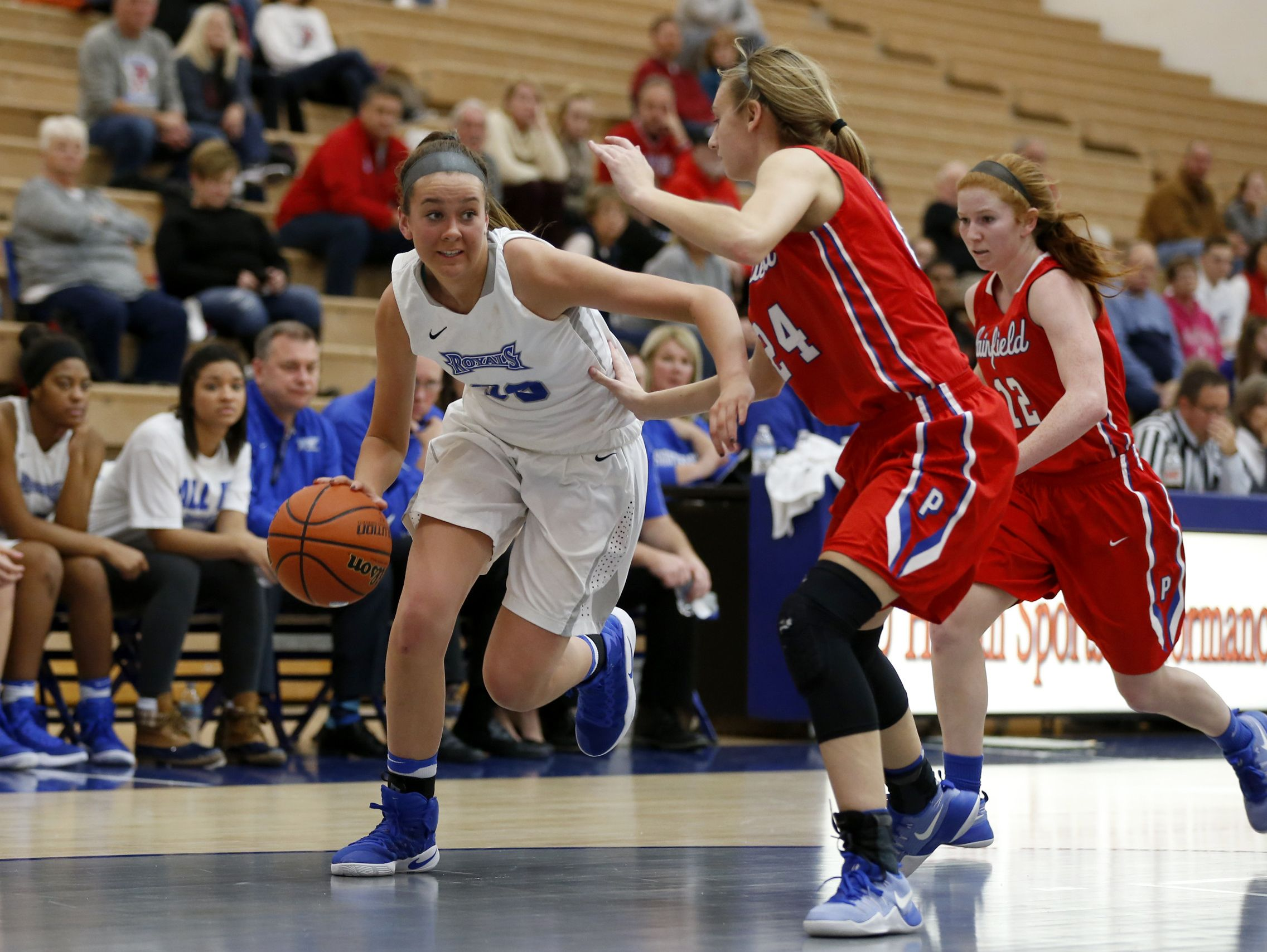 Hamilton Southeastern freshman Sydney Parrish scored 33 points in the Royals' 58-49 win over Plainfield on Dec. 22