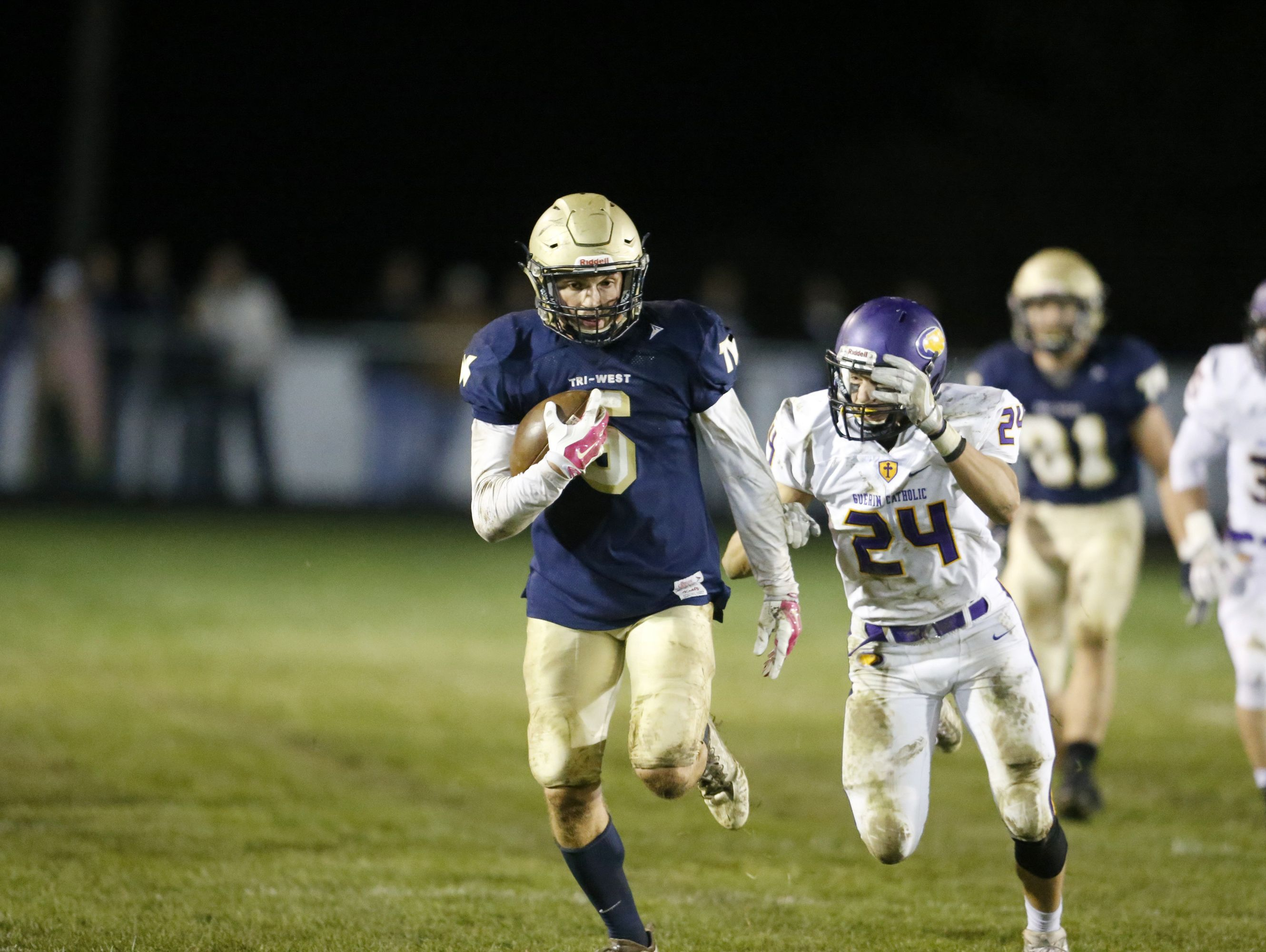 Tri-West tight end Peyton Hendershot is still committed to IU, but looking around.