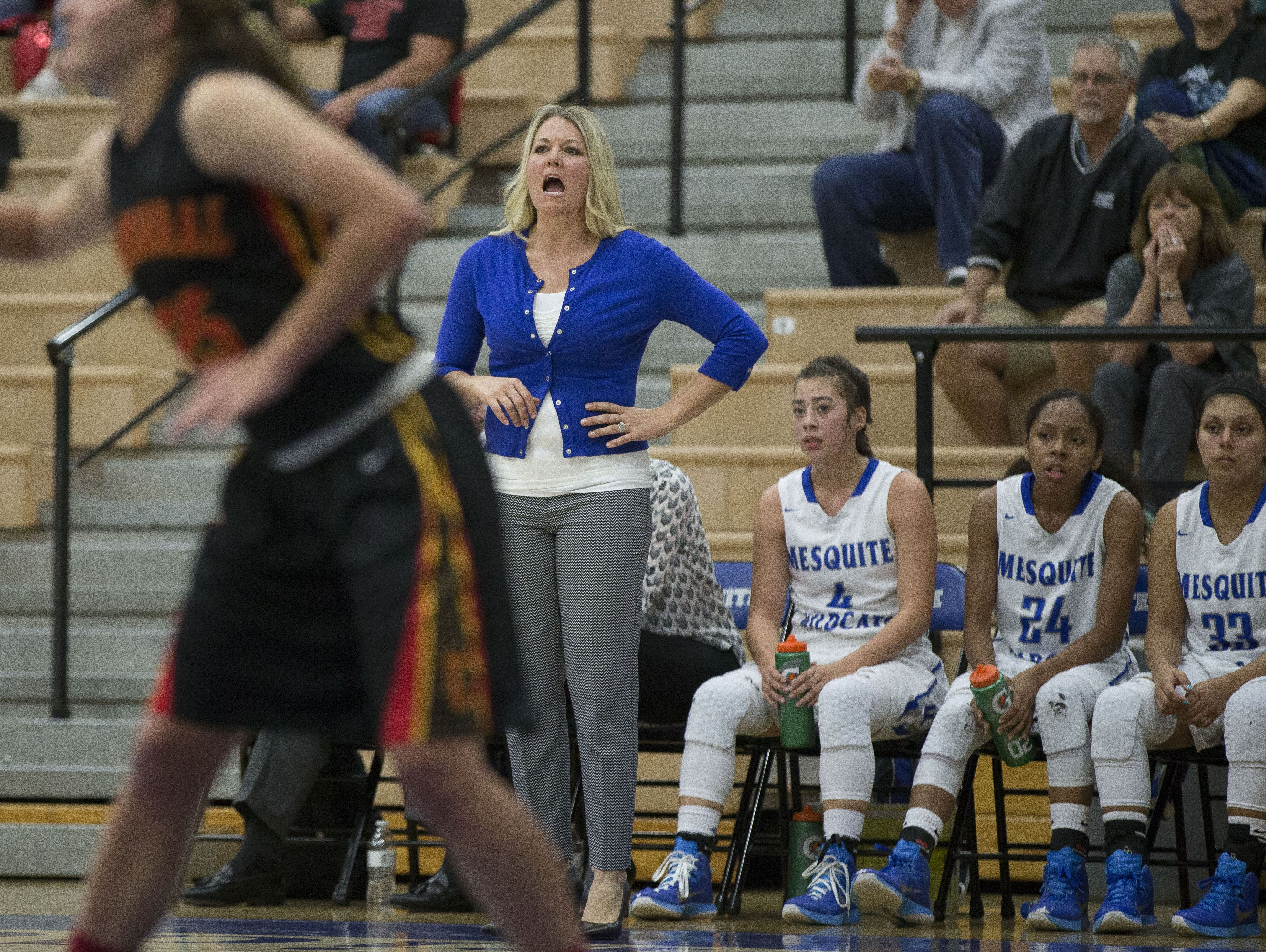 Before the season, Mesquite coach Candice Gonzales expressed concern about being put in 5A where she knew the competition wouldn't be strong enough to challenge her loaded squad.