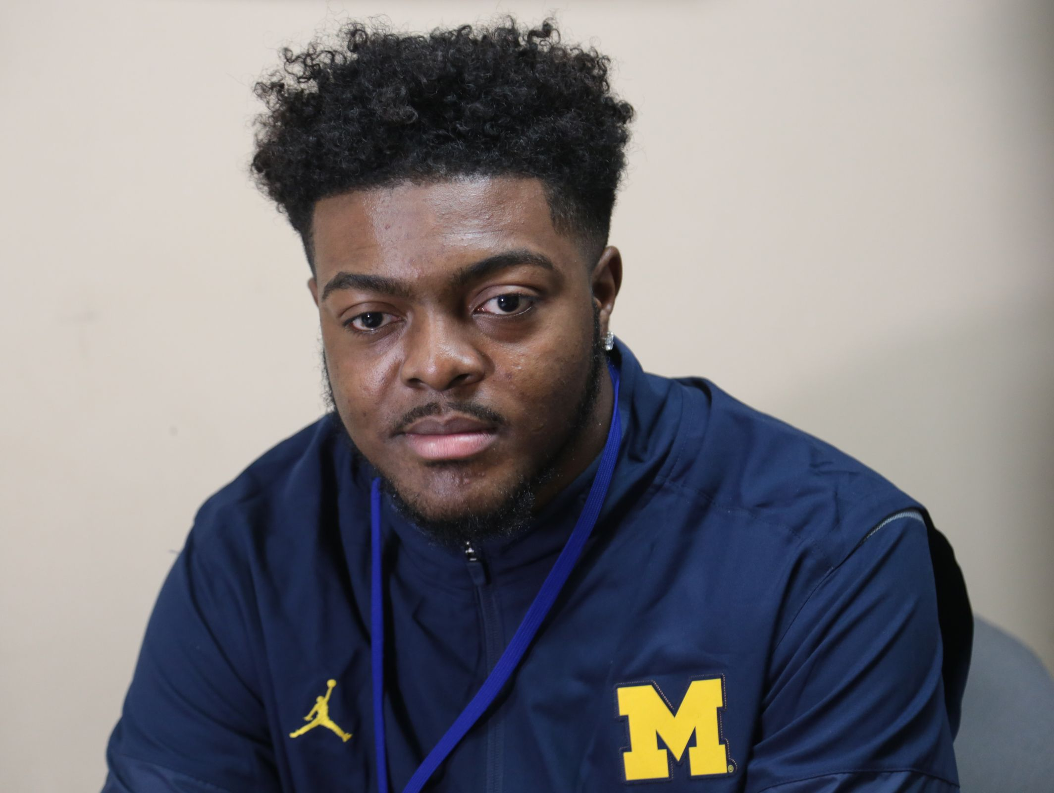 Flint Southwestern football player Deron Irving Bey talks about heading to play football at University of Michigan next season on Friday January 20, 2017 at Flint Carman-Ainsworth High School.