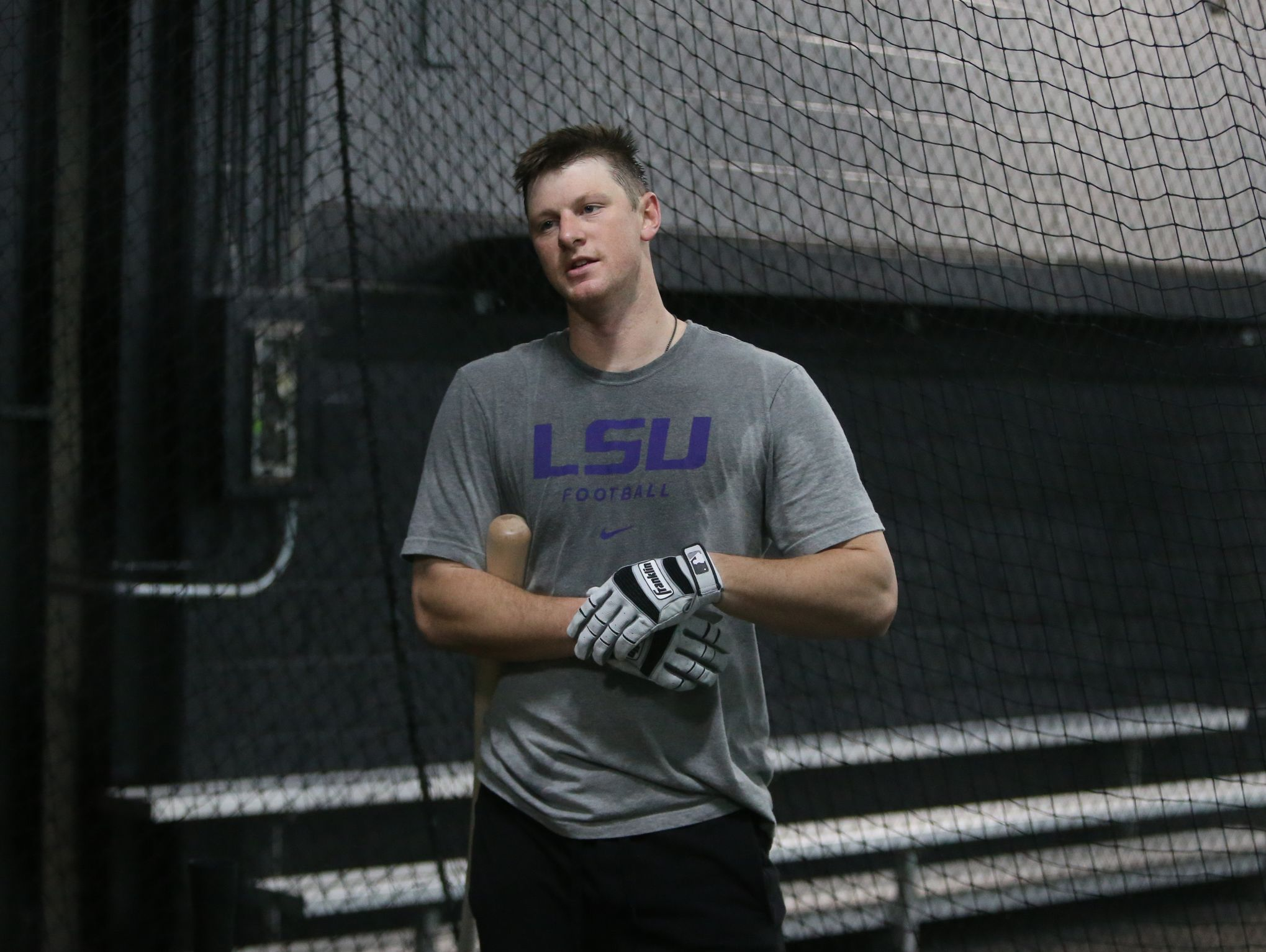 Colorado Rockies All-Star DJ LeMahieu goes through batting practice at 2SP Sports Performance facility in Madison Heights Michigan on Jan. 16, 2017.