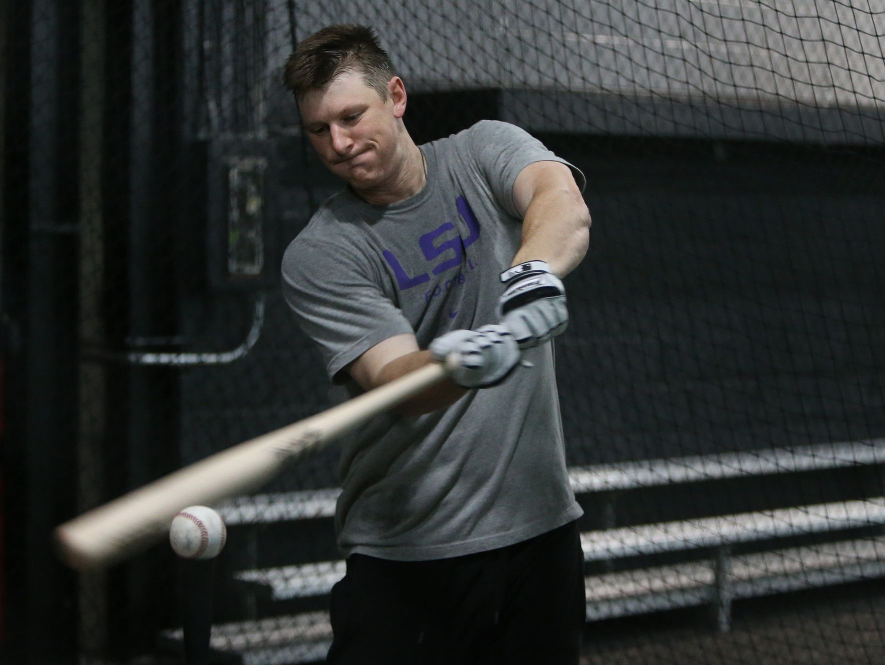 Colorado Rockies All-Star DJ LeMahieu goes through batting practice at 2SP Sports Performance facility in Madison Heights on Jan. 16, 2017.