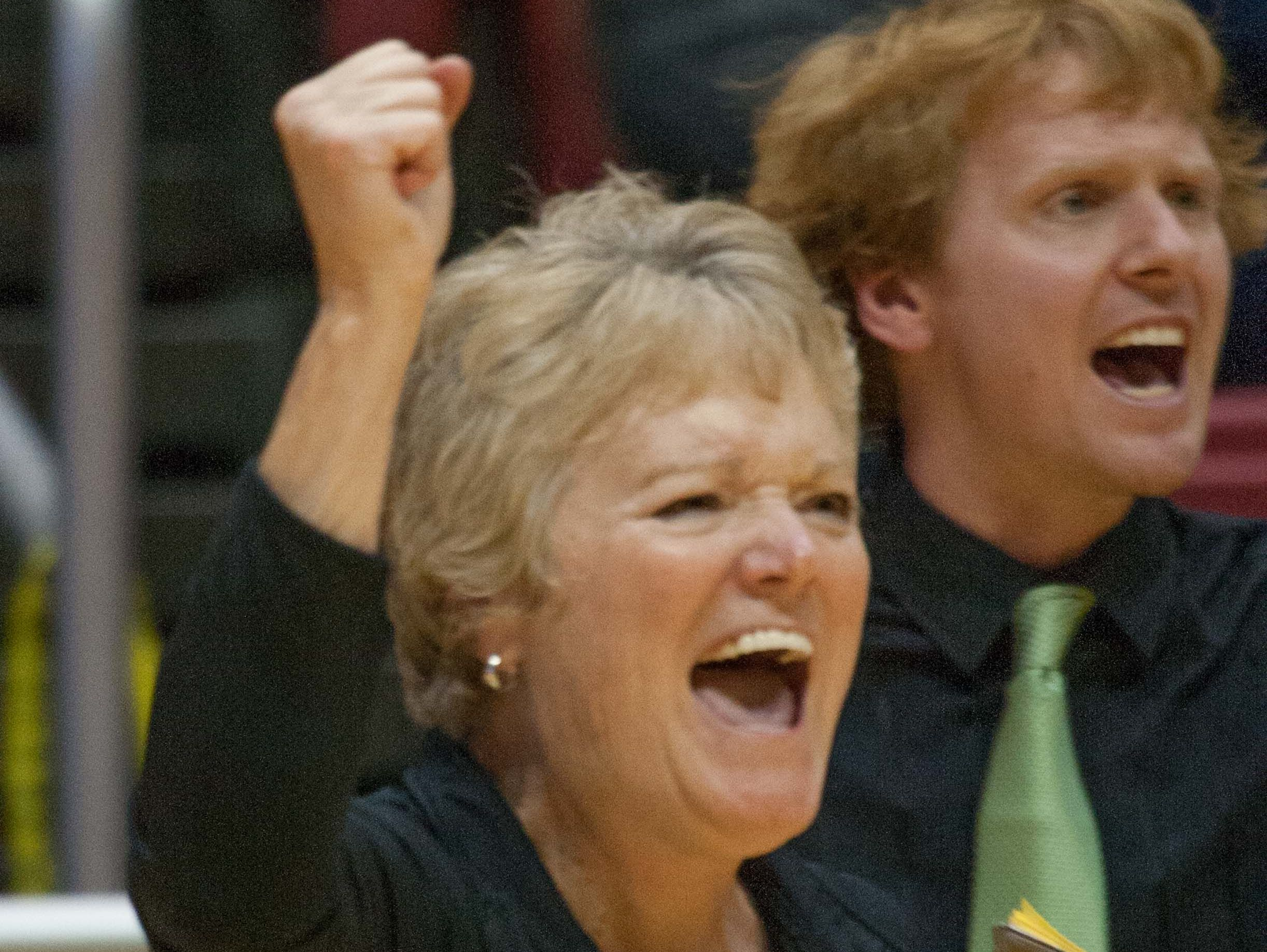 FILE — Cathedral coach Jean Kesterson won eight state titles during her 27 seasons at the helm.