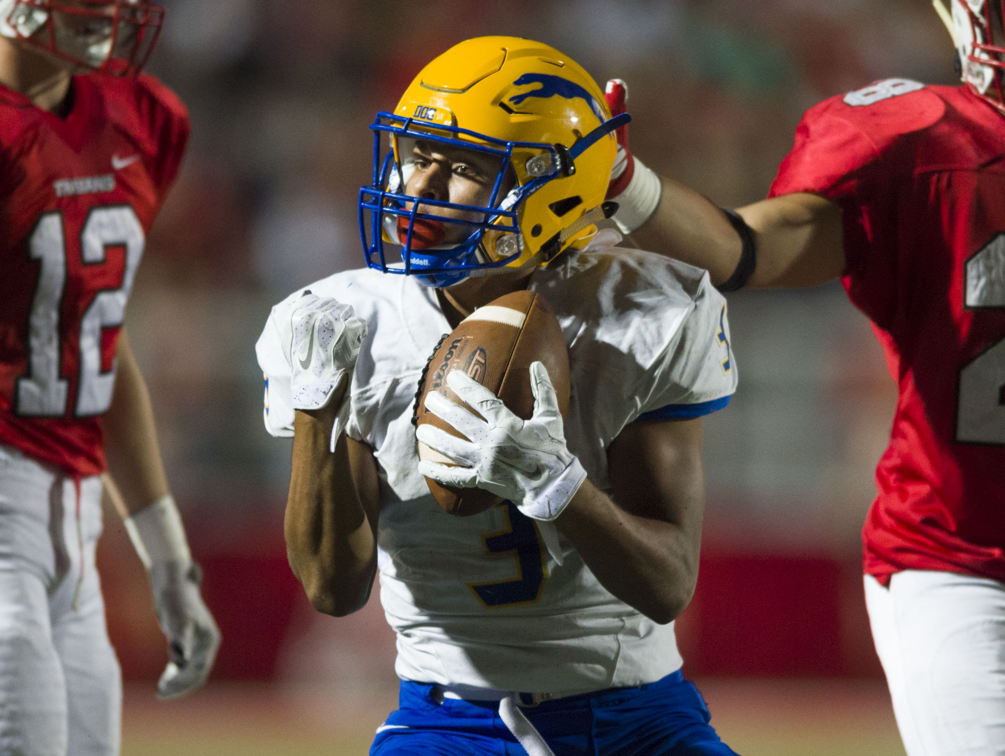 Carmel wide receiver Jalen Walker committed to Miami (Ohio) this week after his offer from Cincinnati was pulled by its new coaching staff.