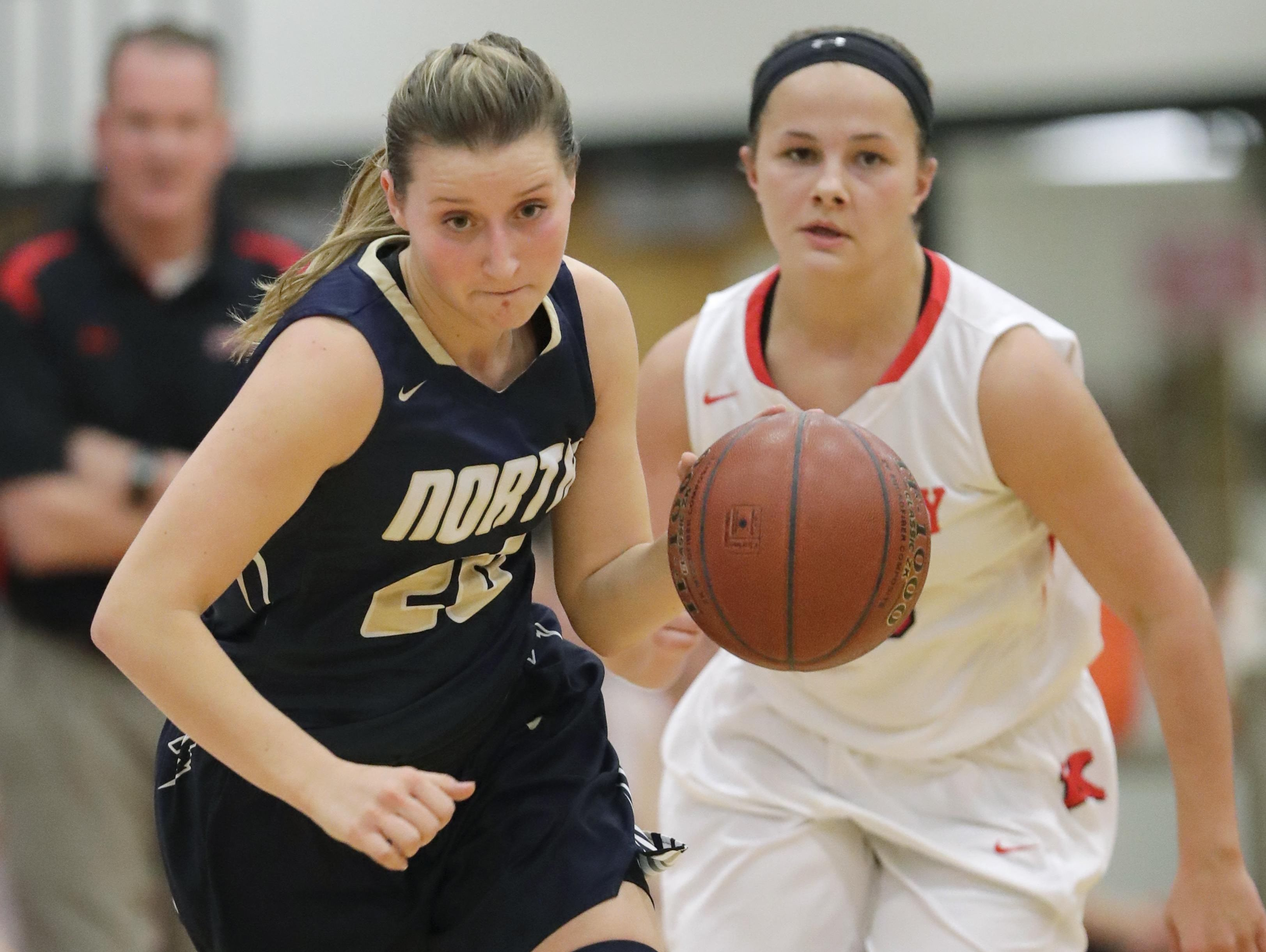 Appleton North's Sydney Levy breaks away from Kam Kroner of Kimberly on Tuesday.
