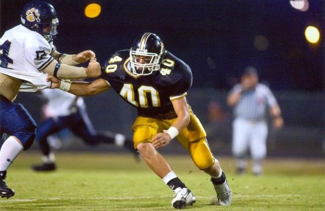 Atlanta Falcons longsnapper Josh Harris competing for Carrollton High in Georgia (Photo: Carrollton High School)