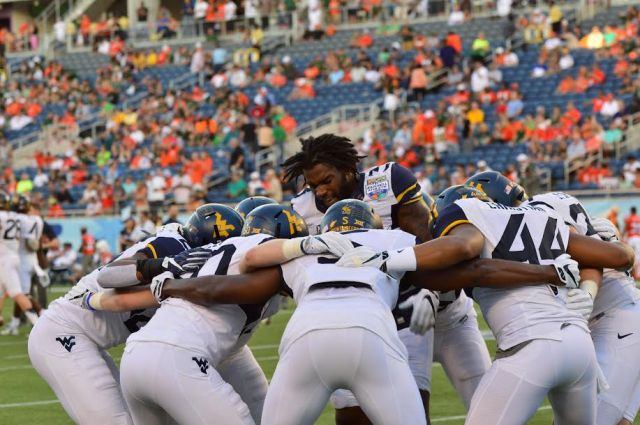 The West Virginia Mountaineers at the 2016 Russell Athletic Bowl (Photo: Shelby Horsley/Russell Athletic)