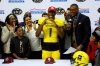 1/7/17 2:39:04 PM -- San Antonio, TX, U.S.A -- West defensive back Jeffrey Okudah (1) during U.S. Army All-American Bowl high school football game at the Alamodome. East won 20-10. -- Photo by USA TODAY Sports Images, Gannett ORG XMIT: US 135880 Army All-America 1/7/2017 [Via MerlinFTP Drop]