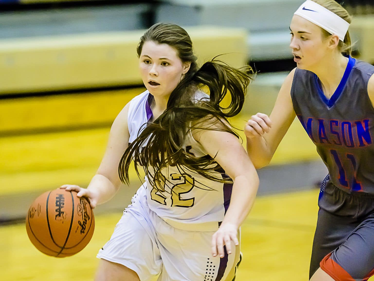 Jackie Jarvis (22) had 23 points for Fowlerville in an upset of No. 9 Bay City John Glenn.