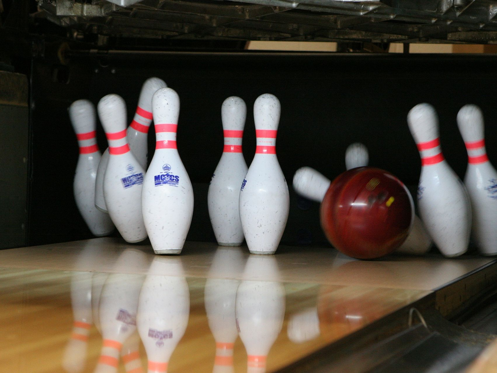 A stock photo for 10-pin bowling.