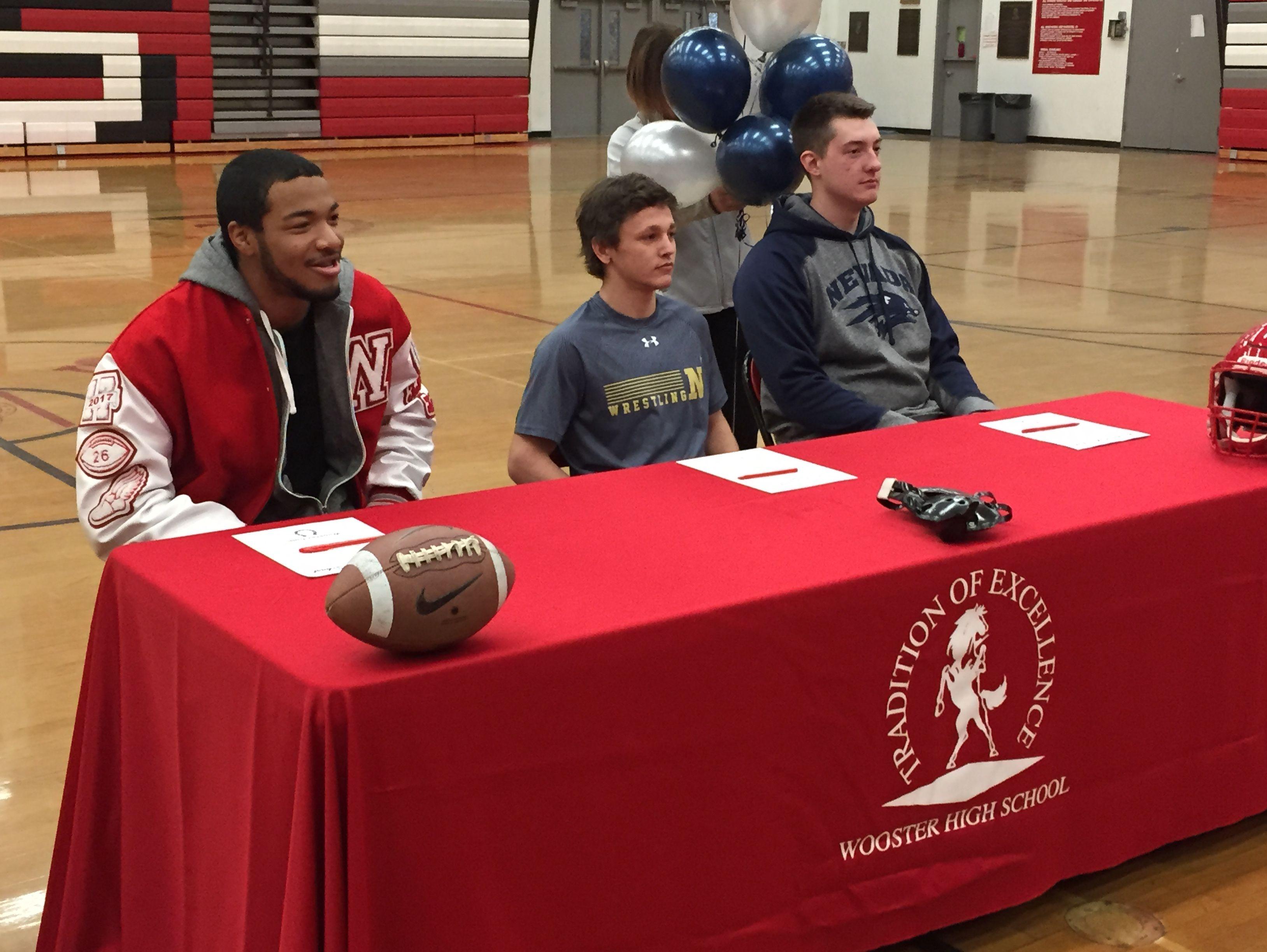 The Colts had three athletes sign: Romeo Okorie (football) Jamestown University; Ian Timmins (wrestling) United States Naval Academy; Karson Thomas (football) Nevada;