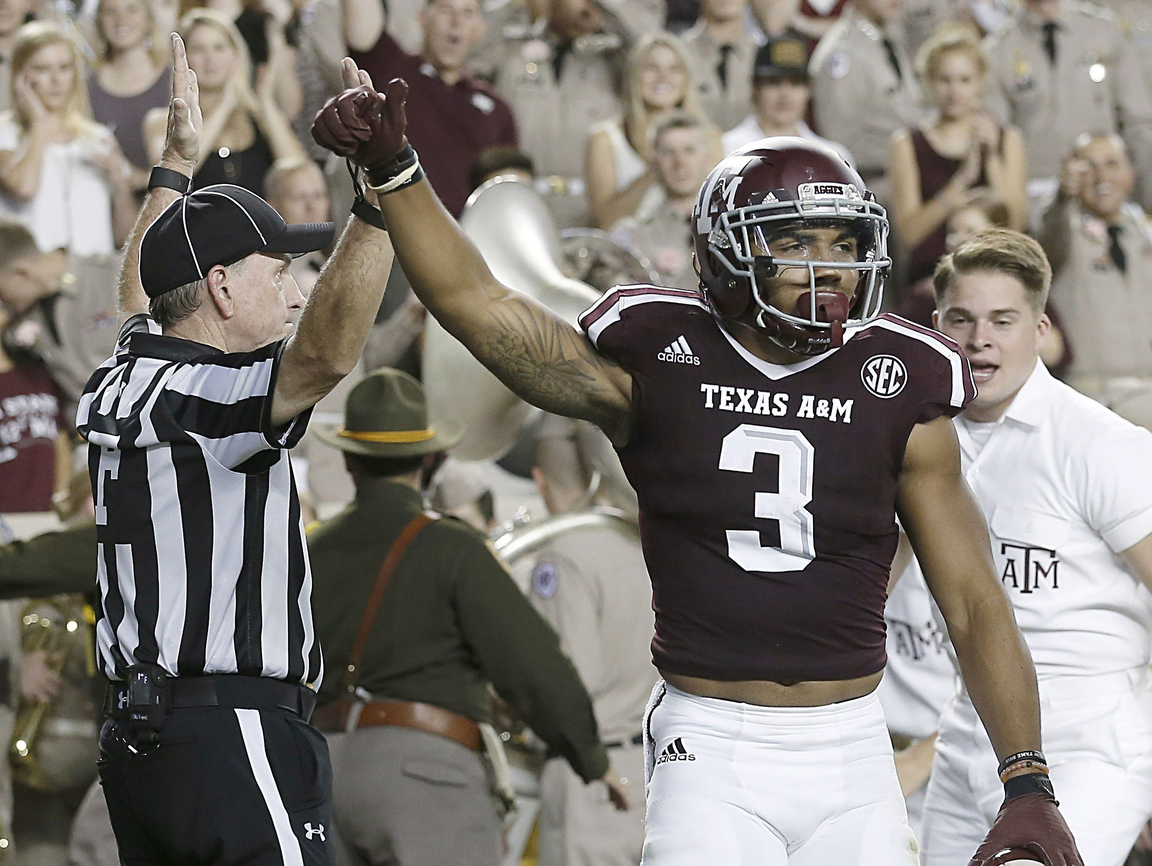 Texas A&M Aggies wide receiver Christian Kirk (3) was a standout at Scottsdale Saguaro High.