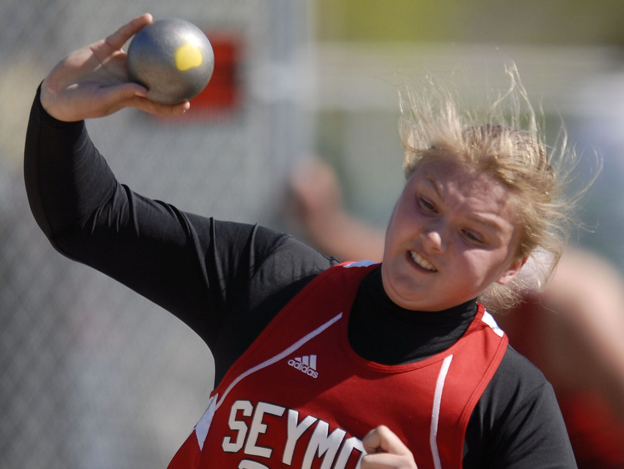 Jessica Maroszek, pictured in 2008, broke the state record in the shot put with a throw of 49 feet, 4¼ inches in 2010 to win the WIAA Division 1 state championship.