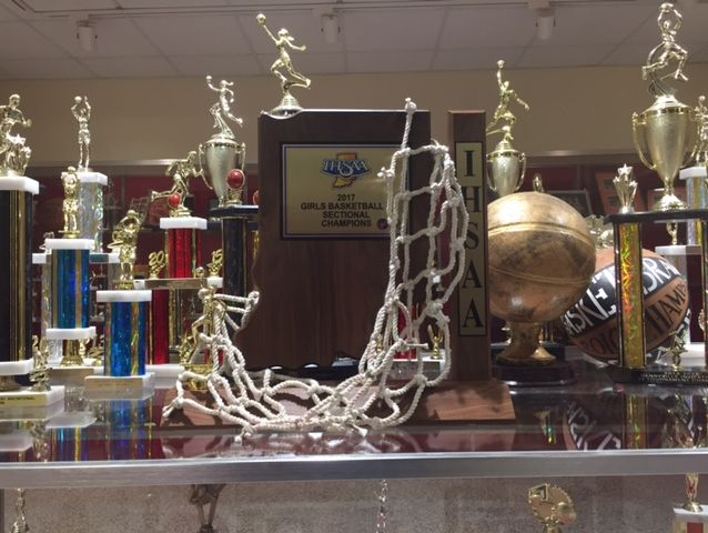Front and center, Crothersville's first sectional trophy is on display for all to see.