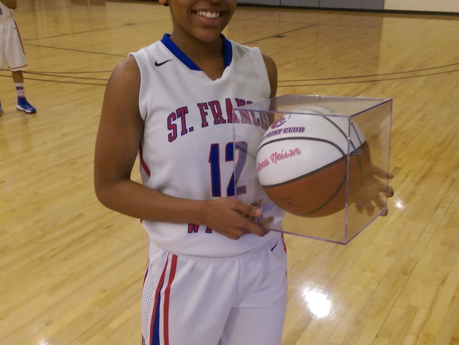 Alexis Nelson, St. Francis junior guard, leads the state in scoring.
