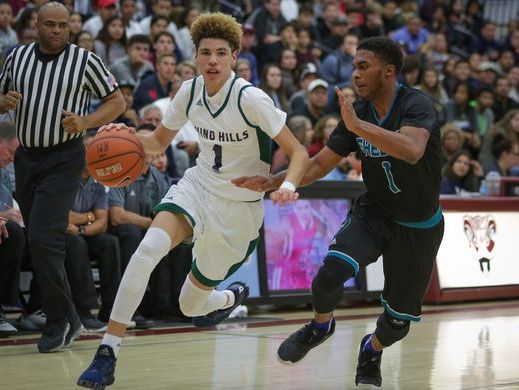 LaMelo Ball, a high school sophomore, is the youngest of the three Ball Brothers: Lonzo is a freshman at UCLA; LiAngelo is a high school senior.