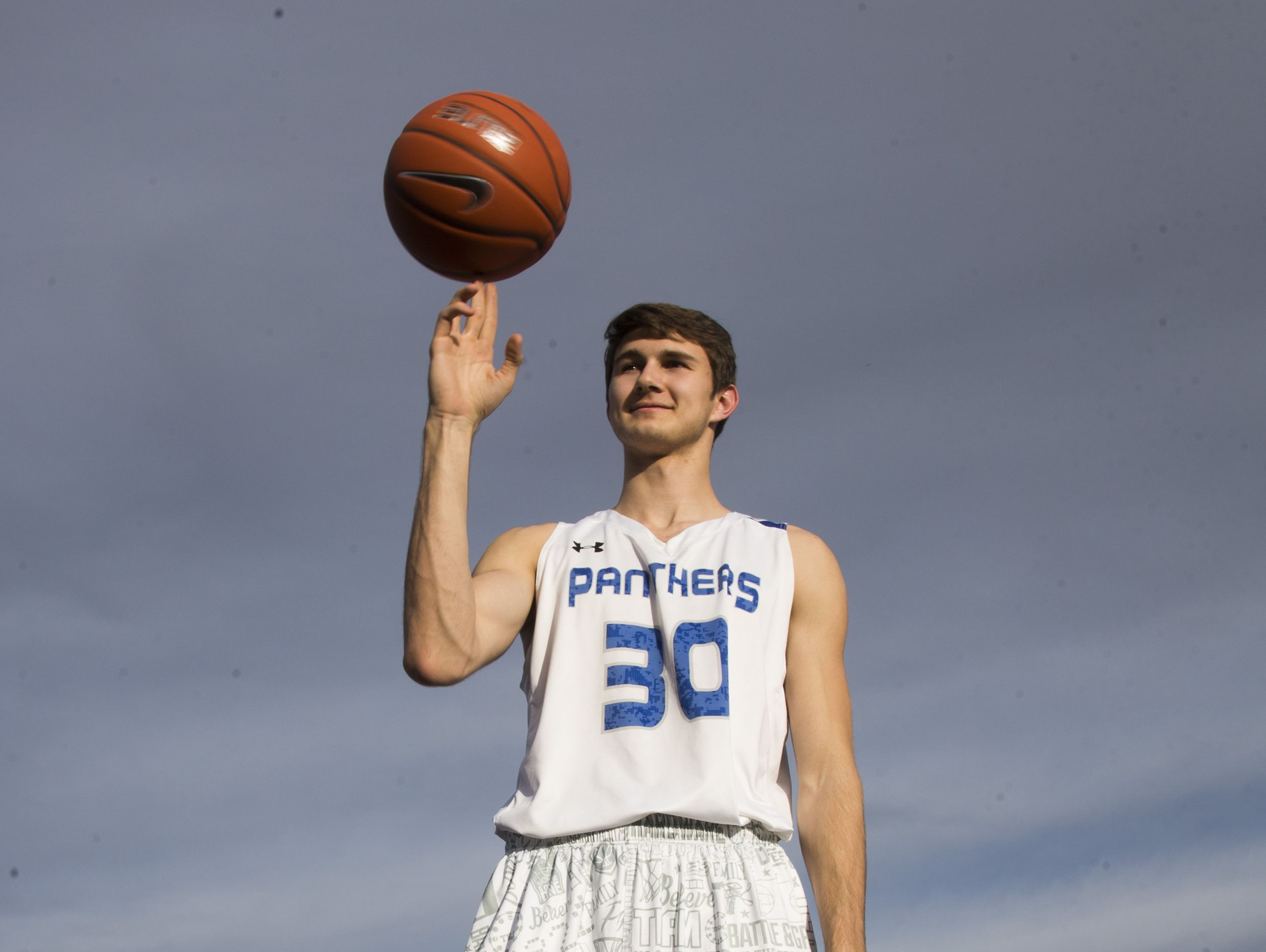 Paradise Honors junior Jared Perry grew from 5-10 to 6-7 over the past three years at Paradise Honors High School.