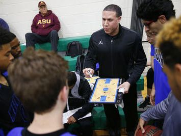 Shadow Mountain coach Mike Bibby is expected to finish his college degree in May and is looking to become a head college coach