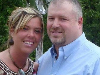 Dansville coach Greg Mack, right, with his wife Julie. Greg Mack died late Wednesday night at age 47.