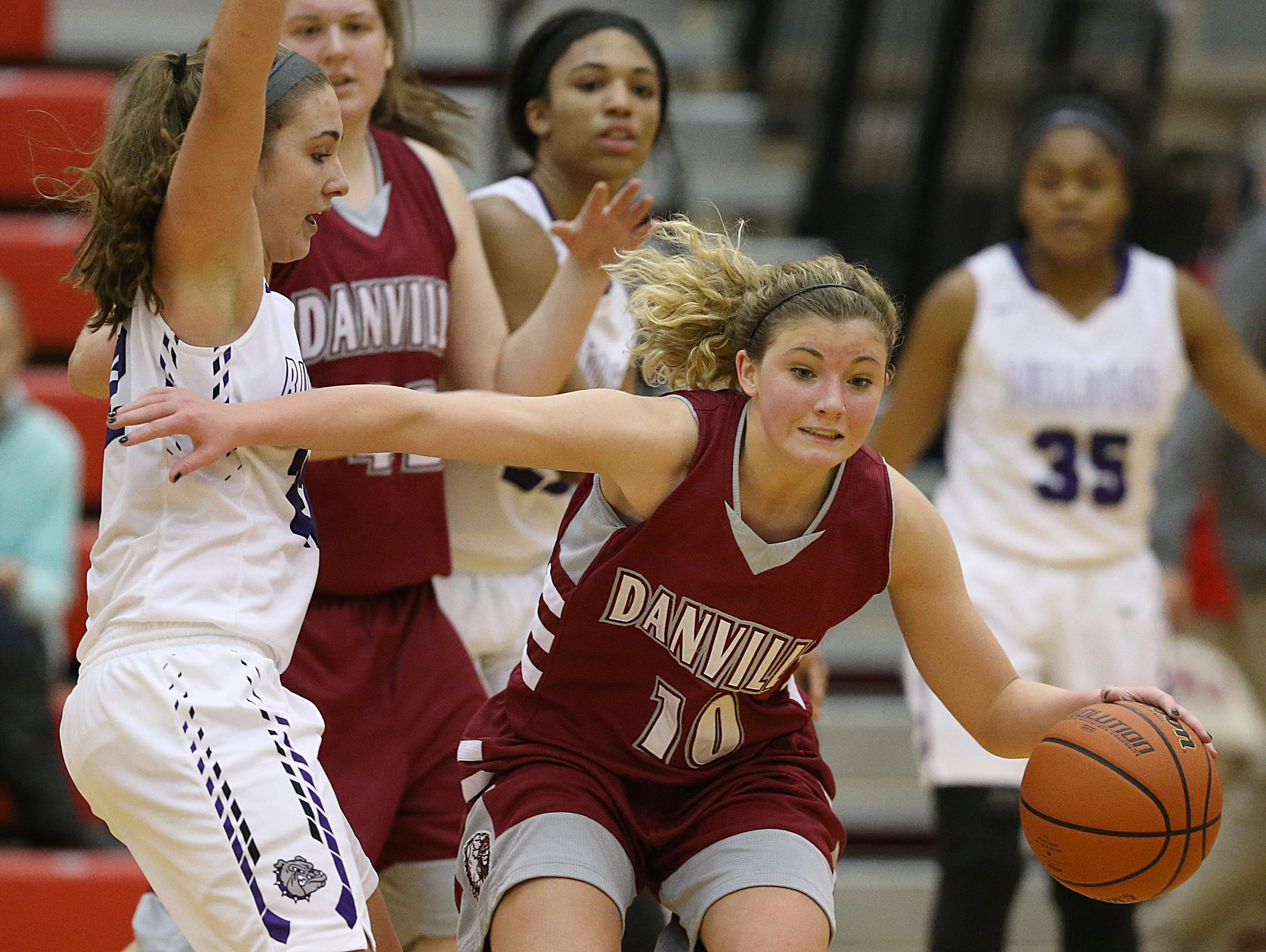 Lexi Riggles (right) was Danville's leading returning scorer from a year ago.