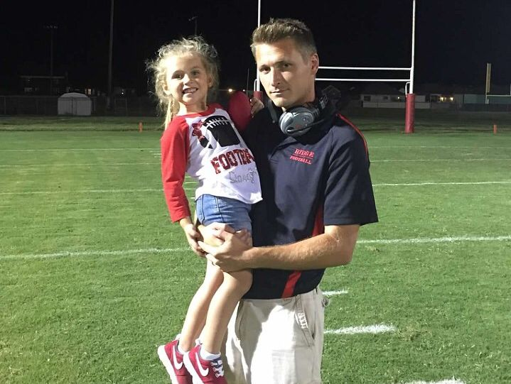 New PRP football coach Tommy Williams and his daughter, Katelynn.