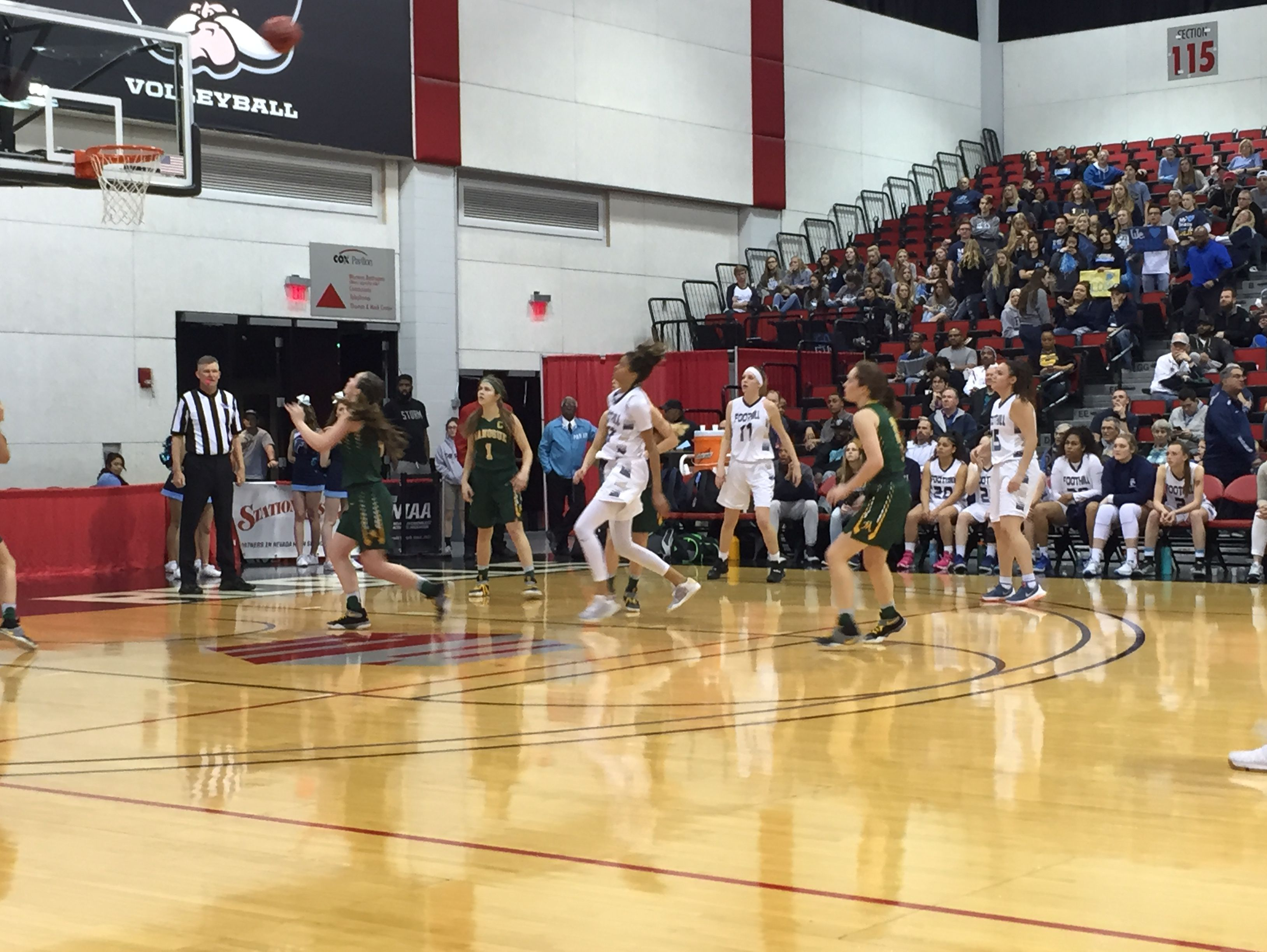 The Bishop Manogue girls raced past Foothill74-37, Thursday to advance to the state title game.