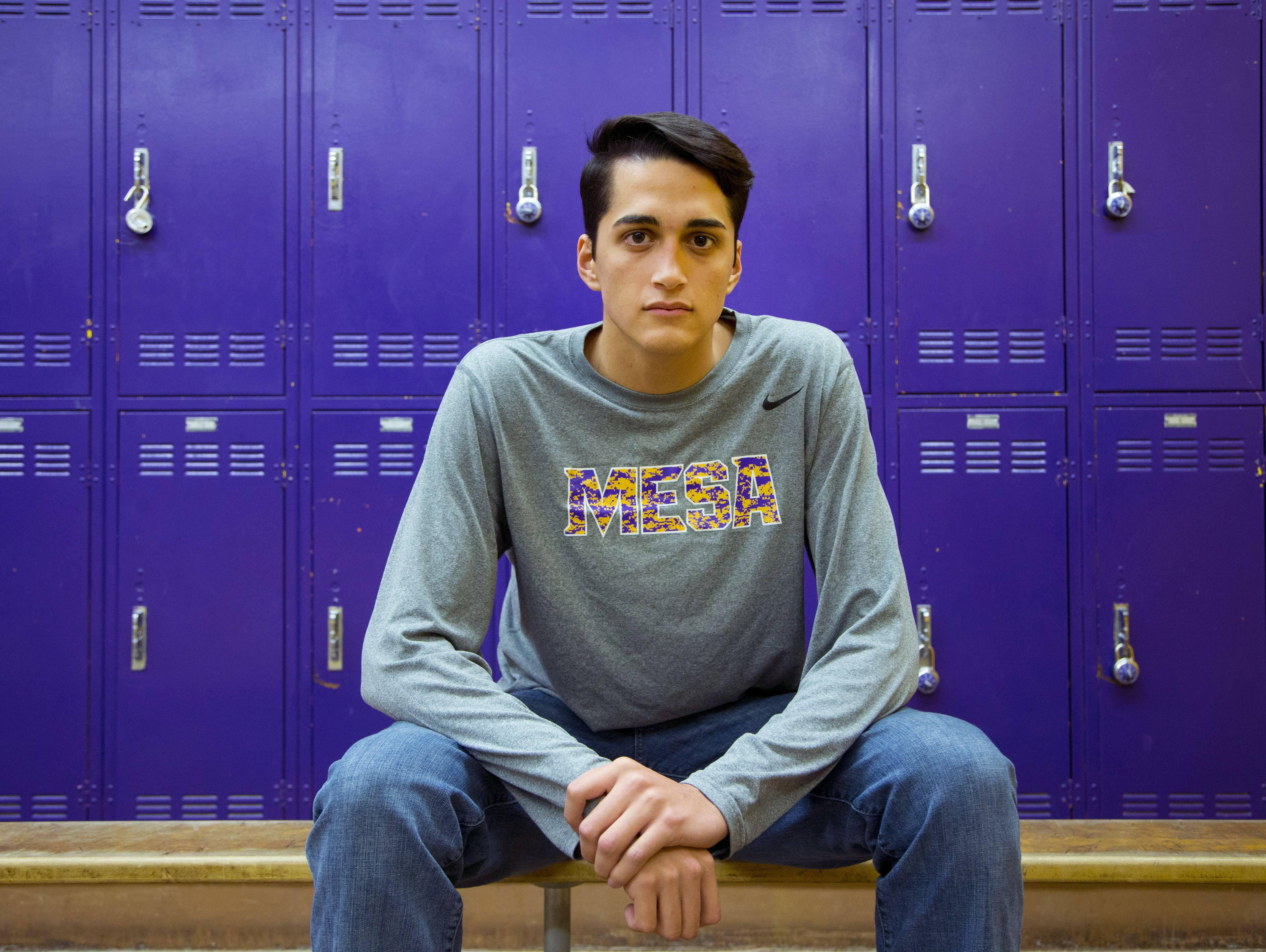 """Mesa High basketball player Antonio Barraza was subjected to """"build the wall and """"get your green card"""" chants during a high school basketball game earlier this season."""
