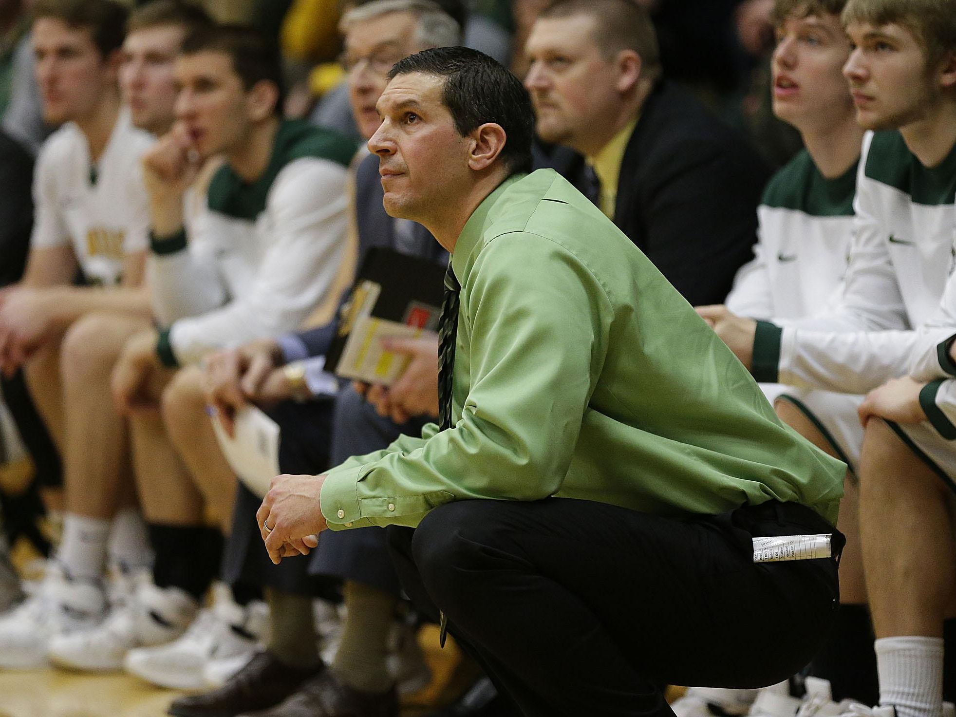 Gary Grzesk is in his 11th season as the coach of the St. Norbert College men's basketball team.