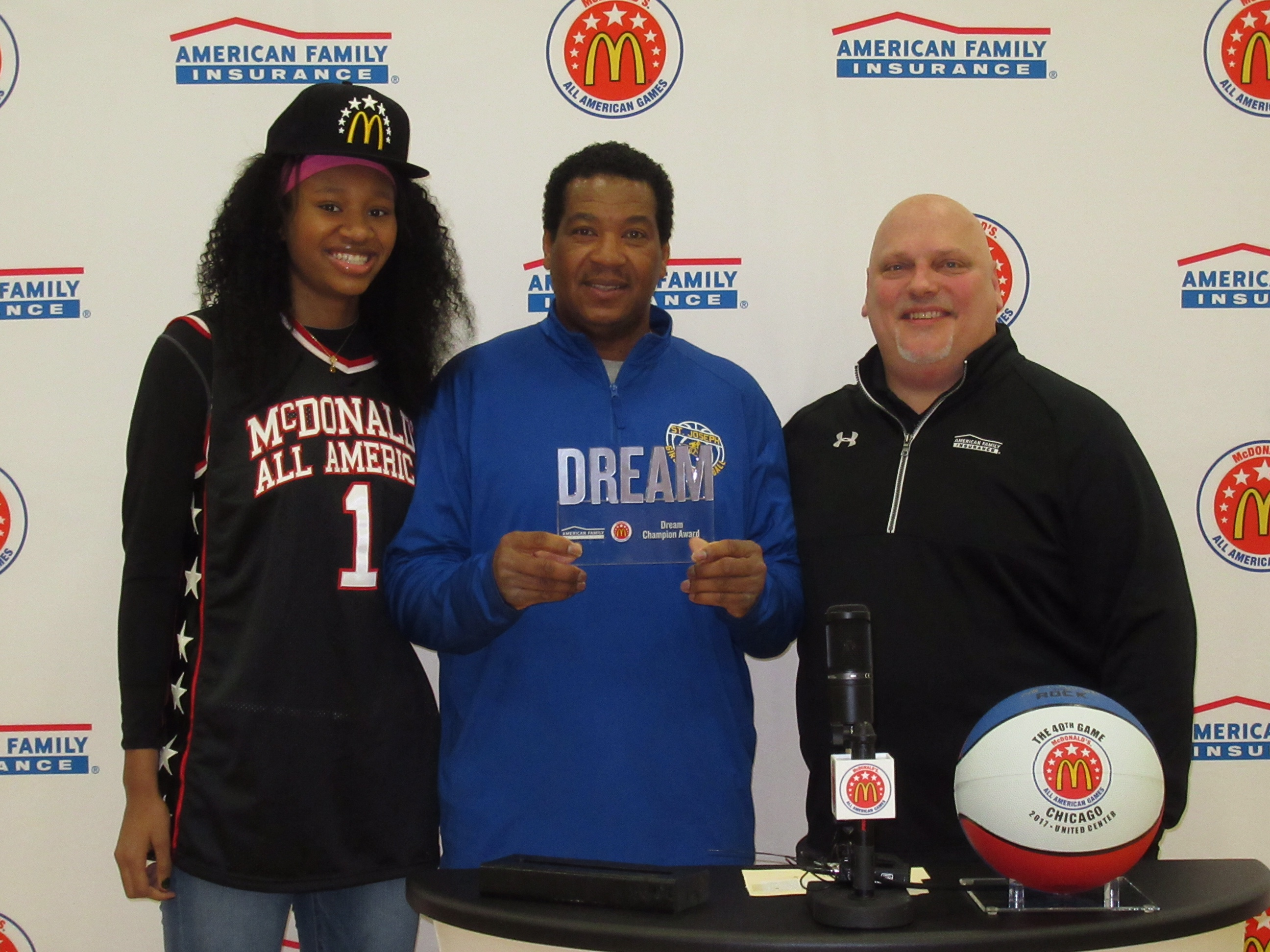 Cooks with her father, Jimmy, her Dream Champion award recipient (Photo: McDAAG)