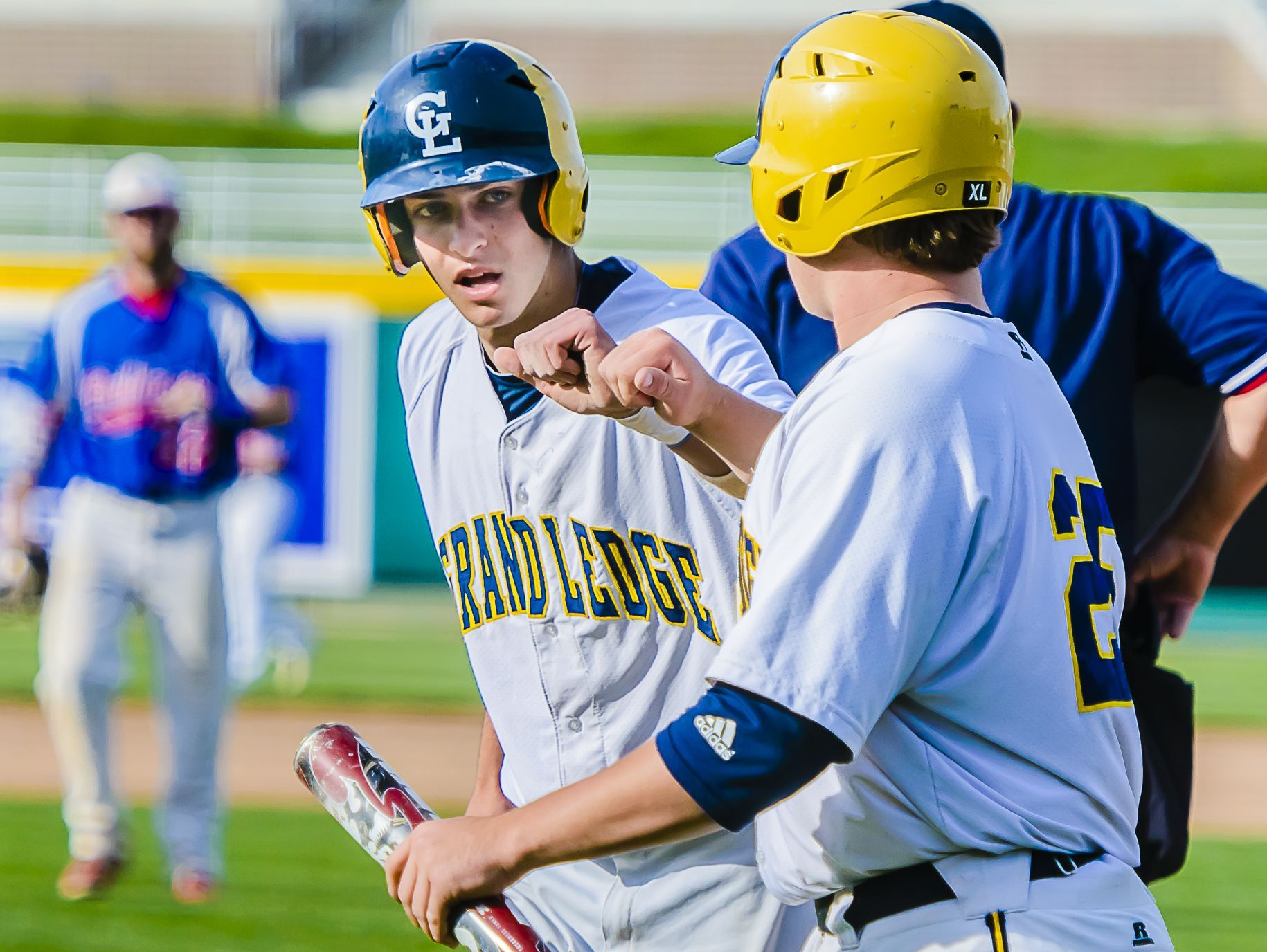 Luke LaLumia ,left, is one of the top returning players for Grand Ledge, which is the defending Diamond Classic champion.
