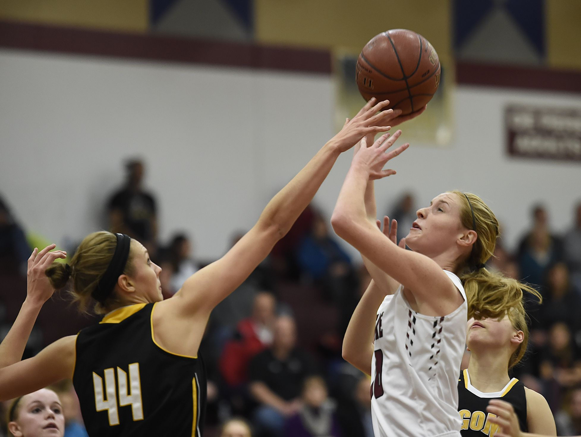 De Pere's Lauren DeMille (10) averaged 6.6 points per game as a junior last season. The 5-foot-8 senior has missed a majority of this season with a torn anterior cruciate ligament in her knee sustained in the second game of the season.