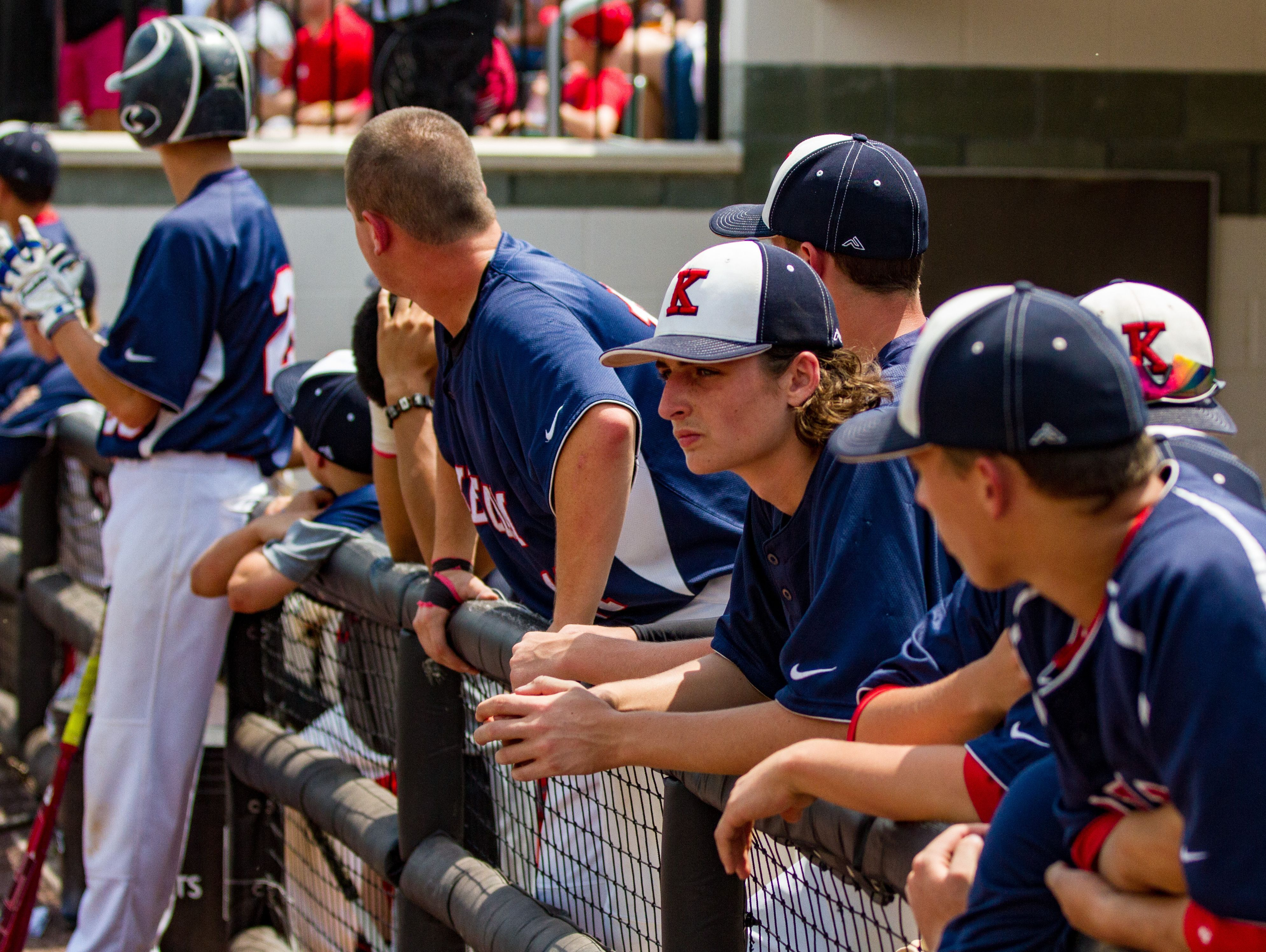Members of the Roy C. Ketcham High School baseball team watch from the dugout, during the New York State Class AA semifinals last June. The Indians were Section 1 Class AA champions last year.
