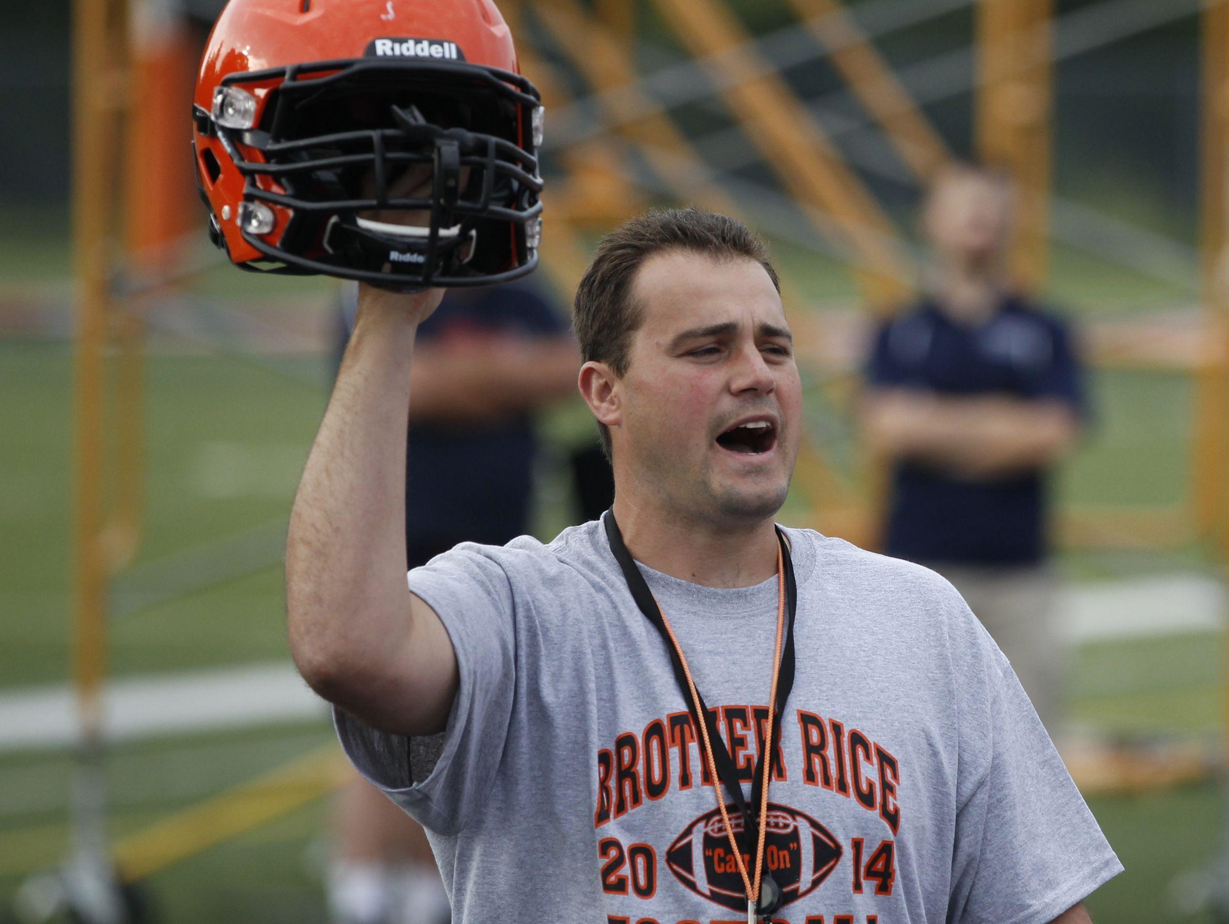 Former Brother Rice High School head football coach Dave Sofran