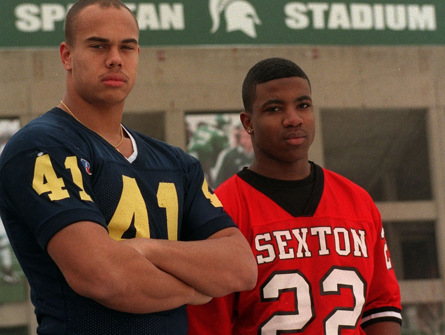 Eastern High's Josh Thornhill (left) and Sexton's Shawn Foster were two of the state's best recruits in their class.