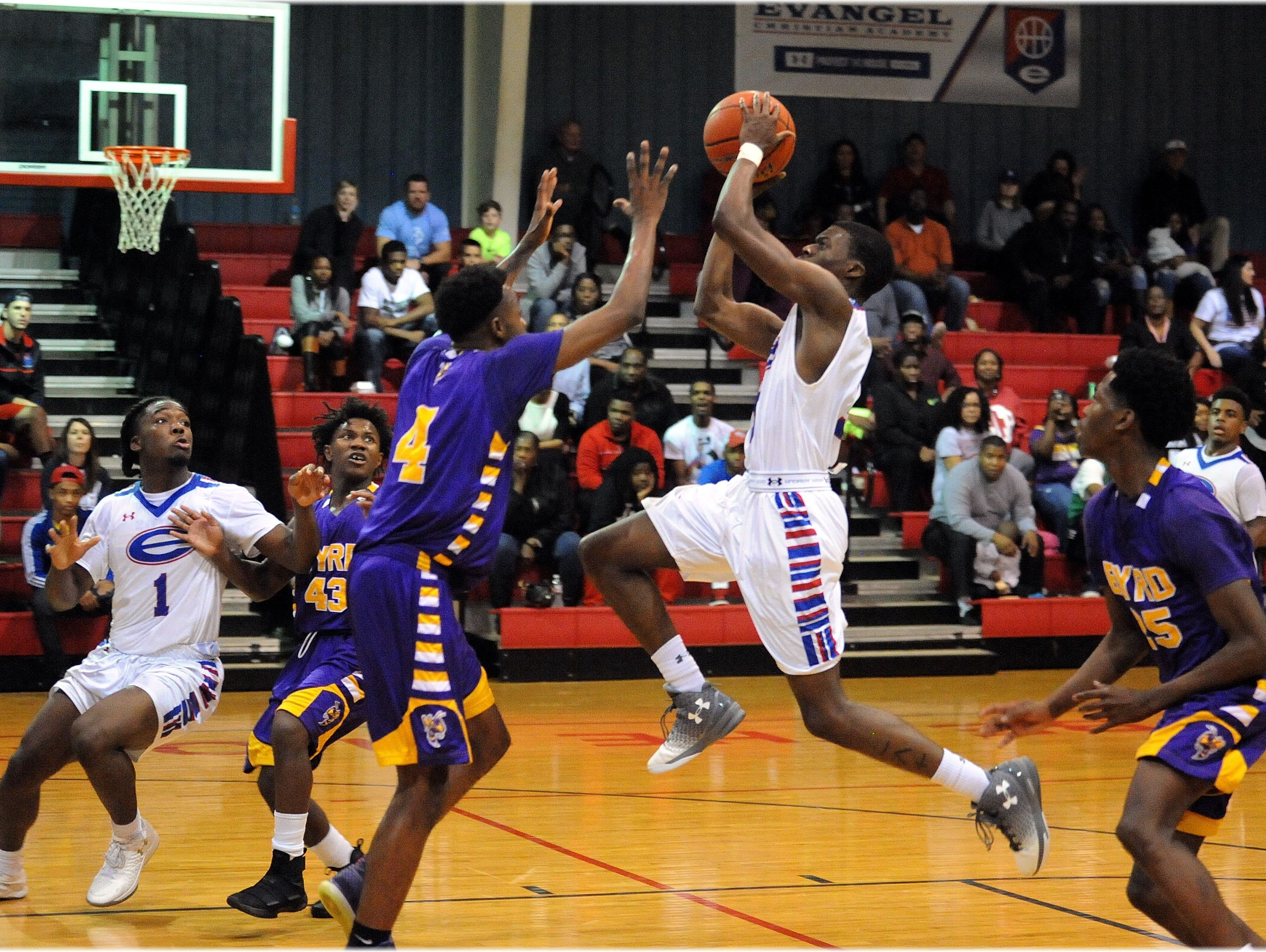 Byrd and Evangel, pictured here in a game earlier this season, will meet Tueday in the Division I playoffs.
