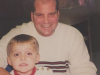 Joey Livingston shared a special bond with his dad, Craig Livingston (right).