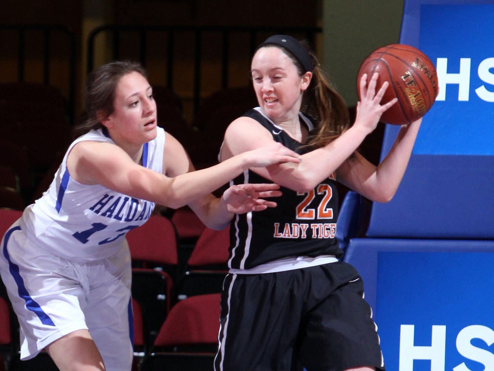 Haldane defeated Pawling 64-37 in a Section 1 Class C semifinal basketball game at the Westchester County Center Feb. 28, 2017.