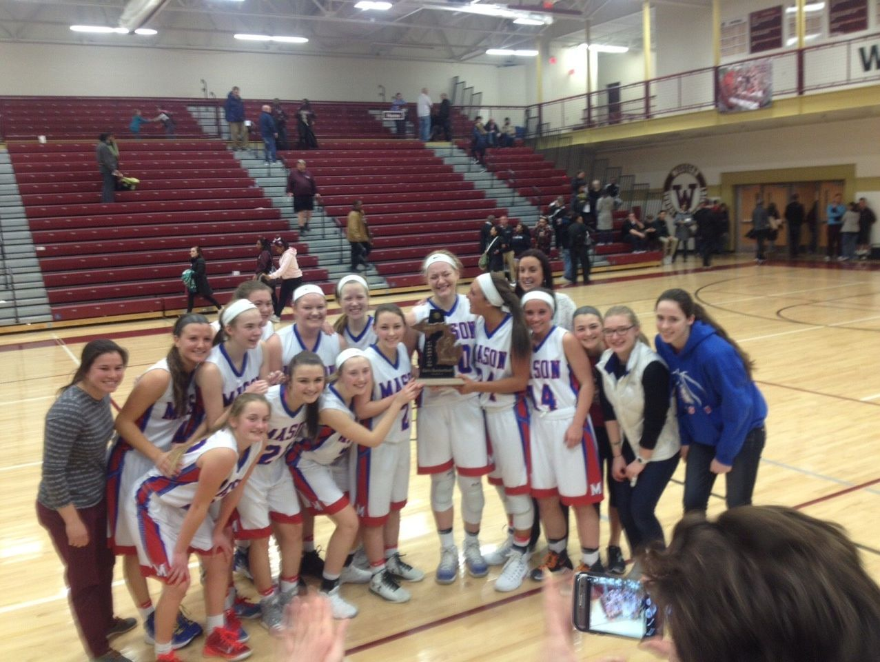 The Mason girls basketball team won the district title Friday night.