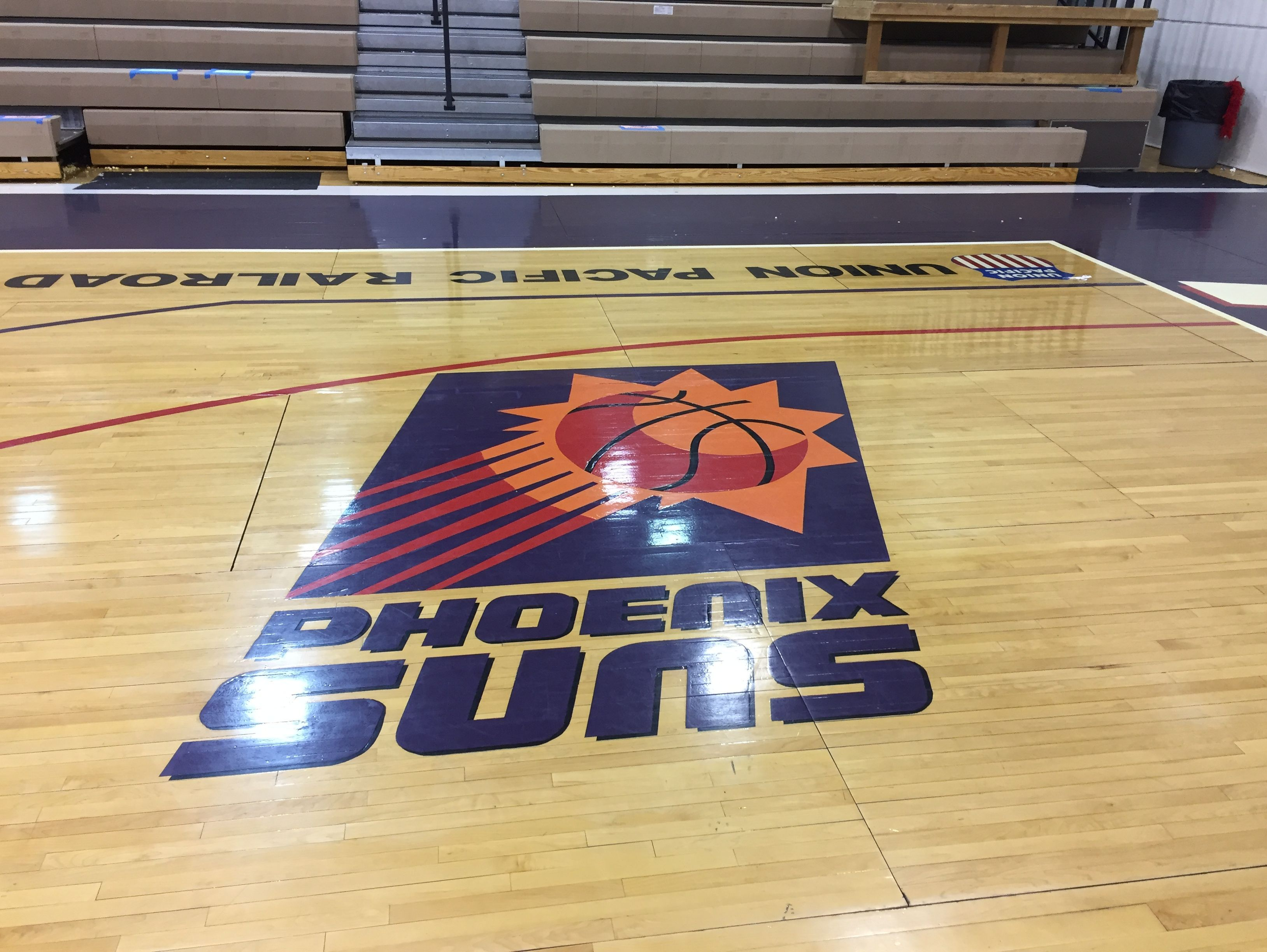 The court at Pendleton Convention Center was donated by the NBA's Phoenix Suns.