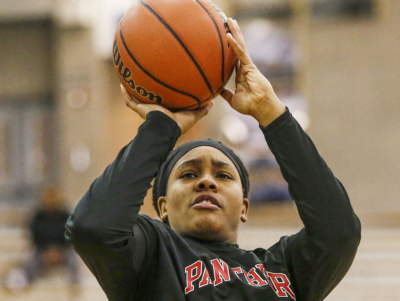 North Central Panthers' Ajanae' Thomas (34)