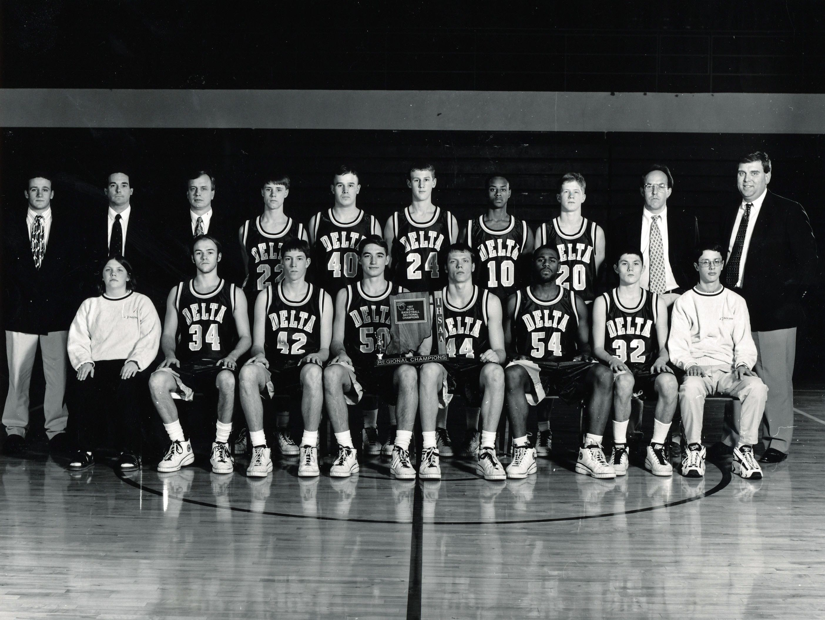Delta's 1997 state-runner up boys basketball team